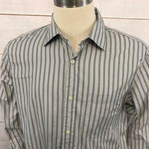Banana Republic Shirt XL 17 - 17 1/2 Gray Stripe